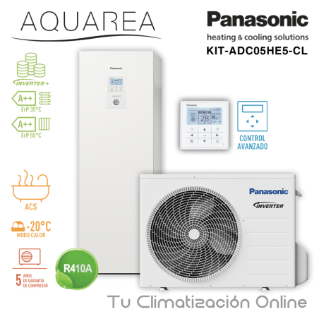 Aerotermia Panasonic Aquarea High Performance ALL IN ONE KIT-ADC03HE5-CL