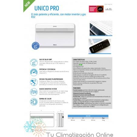 Funciones Aire Acondicionado sin unidad exterior UNICO PRO 30 HP EVA