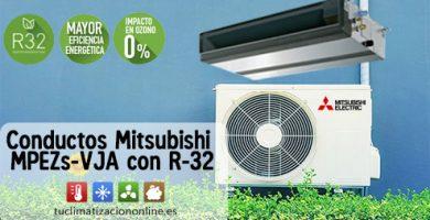 aire por conductos mitsubishi con r-32
