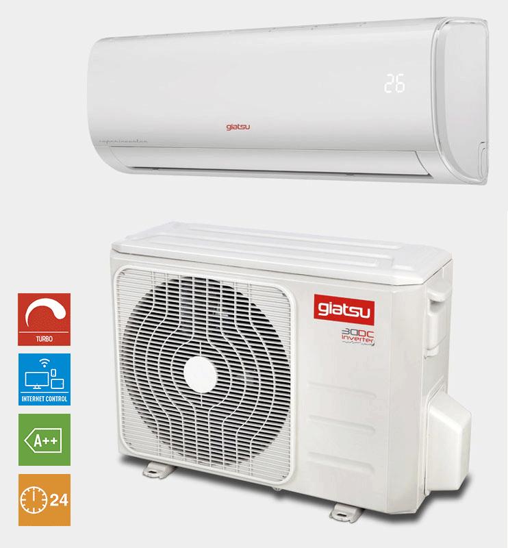aire acondicionado split 1x1 Giatsu con wifi incorporado